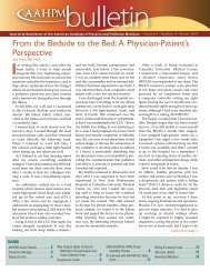 Bulletin - American Academy of Hospice and Palliative Medicine