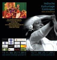Indische Kulturtage Göttingen