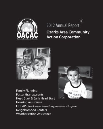 2012 Annual Report - Ozarks Area Community Action Corporation