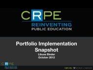 Portfolio Implementation Snapshot - Libuse Binder Presentation