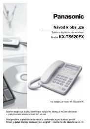 Model KX-TS620FX - ISC Communication Czech