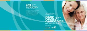 FAMILY CAREGIVER: - National Alliance for Caregiving