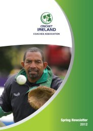 Coaches - Cricket Ireland