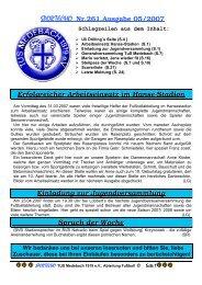 SPORTECHO Nr.261,Ausgabe 05/2007 Erfolgreicher Arbeitseinsatz ...