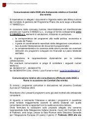 Procedura di concertazione DGIE-Ambasciate - Crui