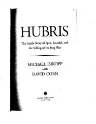 Michael Isikoff and David Corn, Hubris: The Inside