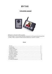Návod k použití videotelefonu - Deramax.cz