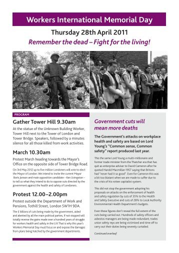 Workers International Memorial Day - LabourNet UK