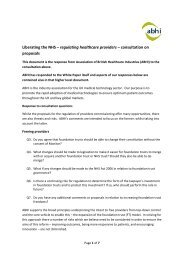 Liberating the NHS – regulating healthcare providers – consultation ...