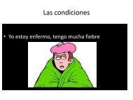 Las condiciones