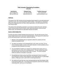 Tiffin University Cheerleading Constitution