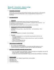 Niveau B – Consulent – dienst routage Ref n ... - Koekelberg