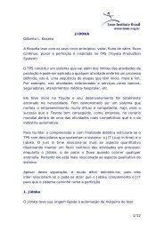 1/12 JIDOKA Gilberto I. Kosaka A filosofia lean com os seus cinco ...