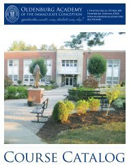 Course Catalog - Oldenburg Academy