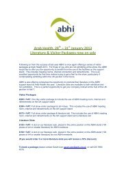 Arab Health, 28 – 31 January 2013 Literature & Visitor Packages ...