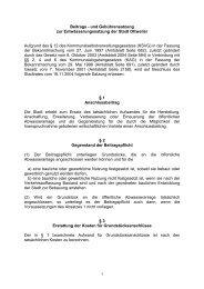 Beiträge und Gebühren - Ottweiler