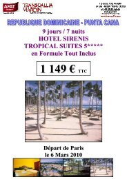 03 06 10 Rep Dom SIRENIS TROPICAL SUITES - Afat
