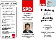 SPD AfA Einladungsflyer - AfA-Bezirk Hannover