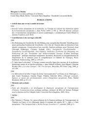 PUBLICATIONS - Centre Marc Bloch