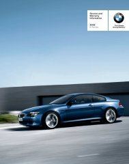 Service and Warranty Information 2008 6 Series - Irvine BMW