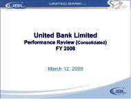 Annual 08 Results - United Bank Limited
