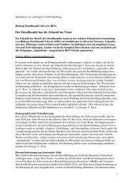 Pressemitteilung - Bildung Detailhandel Schweiz (BDS)