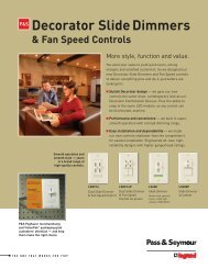 Decorator Slide Dimmers and Fan Speed controls - by Legrand