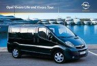 Opel Vivaro Life und Vivaro Tour. Farben. - Garage im Steiger AG