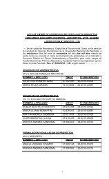 NOMBRE y APELLIDO DNI Nº Nº INSCRIPCION JULIO LUIS ...