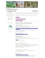February 22, 2010 - Center for Advanced Study of International ...