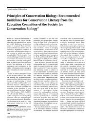 English - Society for Conservation Biology