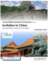 Invitation to China - Council Bluffs Area Chamber of Commerce