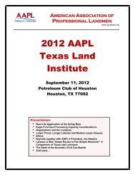 2012 AAPL Texas Land Institute - American Association of ...