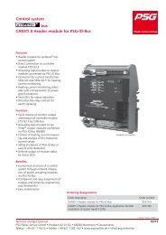 bus Control system CANSTI II Header module for PSG-IO-Bus