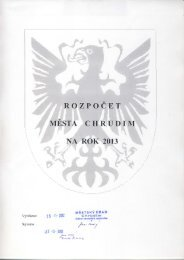 Rozpočet města na rok 2013 - Chrudim