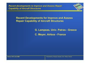 Recent Developments for Improve and Assess Repair Capability of ...