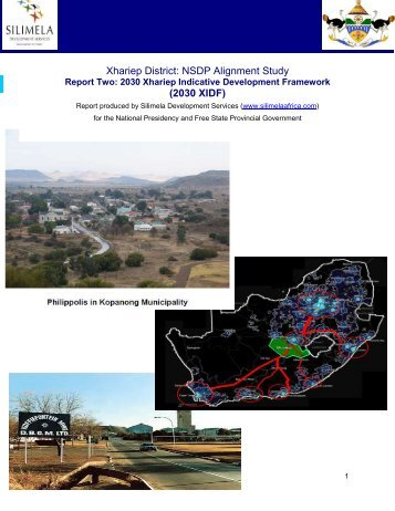 2030 Xhariep Indicative Development Framework - Arid Areas ...