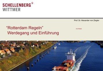 """""""Rotterdam Regeln"""" Werdegang und Einführung - IFLOS.ORG"""
