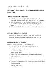 ACTIVIDADES 2012 SECCIONAL CBA-SAD