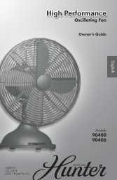 High Performance High Performance - Hunter Fan