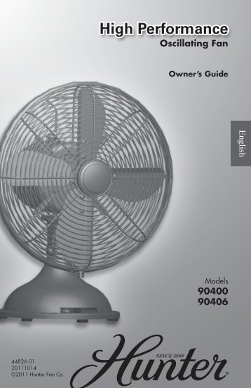 High Performance High Performance - Hunter Fan
