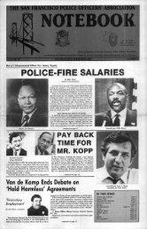 September 1986 - San Francisco Police Officers Association