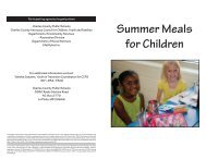 Summer Meals for Children - Charles County Public Schools