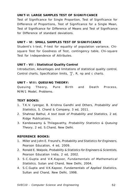 II B Tech  I Semester
