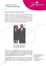 Superstar Rihanna singt für Barbados