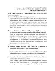 ogólne zasady współpracy międzynarodowej gminy miejskiej kraków