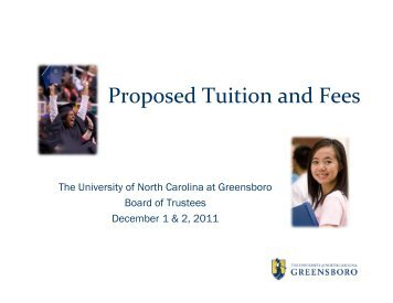 Tuition and Fees - The University of North Carolina at Greensboro