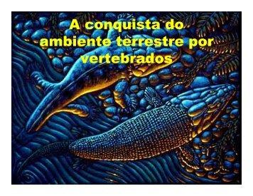 A conquista do ambiente terrestre por vertebrados