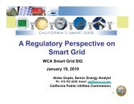 A Regulatory Perspective on Smart Grid