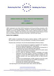 green paper on public private partnerships - European Union of ...